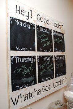 meal planning, meal planner, weekly menu, menu boards, dinner menu, menu planners, chalkboard paint, menu planning, weekly meals