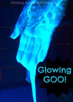 Glowing Goo ~ glowing sensory experience your kids will love