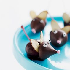 Chocolate cherry mice for a Christmas treat.....my husband thinks these are cool!