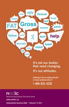 February 2-8, 2014 is Eating Disorder Awareness Week in Canada. Go to www.healthaware.org for link to more information.