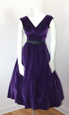 Purple Velvet Dress By Jerry Gilden Spectator