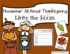 November: Thanksgiving Write the Room + 2 Bonus Activites from TheKinderLife on TeachersNotebook.com -  (8 pages)  - November Write the Room Activities