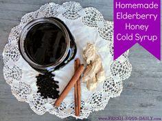 Fresh Eggs Daily®: Homemade Elderberry Honey Cold Syrup