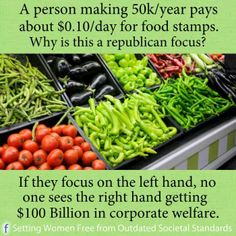 Republicans want us to demonize the poor as they squander billions of our tax dollars to oil tycoons that feed their campaigns.  Don't drink their koolaid.
