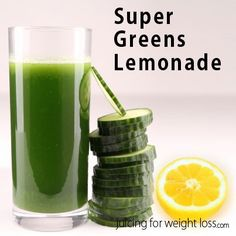 Nutrient dense #green #juicing recipe that tastes great and can be enjoyed on a hot summer day!