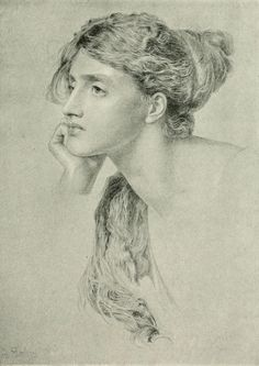The Athenaeum - Study (Anthony Frederick Sandys - No dates listed)