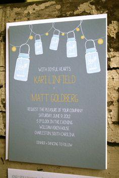 #Mason #Jar Wedding #Invitation