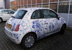 Delfts Blauwe Fiat 500.