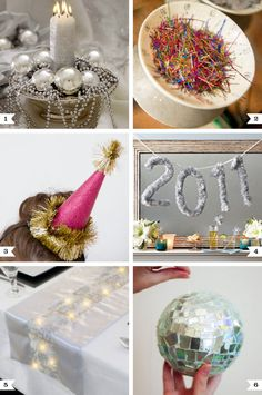 Ways to re-use your Christmas decorations for New Year's Eve, plus an eco-friendly DIY disco ball!