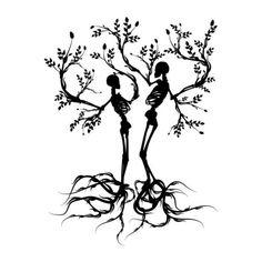 skeleton tattoo | Tumblr ❤ liked on Polyvore river move, tree tattoos, silhouett, tree thigh tattoo, skeleton tree, rumi quot, tattoo sleeves, a tattoo, skeleton tattoos