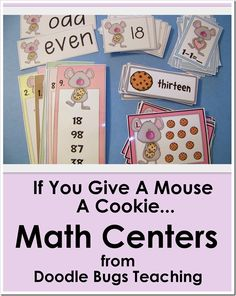 Cute thematic unit for math stations