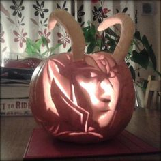 This Loki Jack-o-lantern is anything but low key...  [Submitted via Twitter by ‏@Julia Barnard]