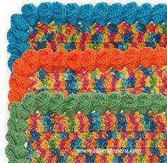 Borde o puntilla con flores de campanilla tejido a crochet!