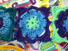 Lacy granny square, free pattern by The 8th Gem...