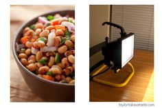 How to make an indoor lighting rig for $15. I need this for photographing meals after sundown!