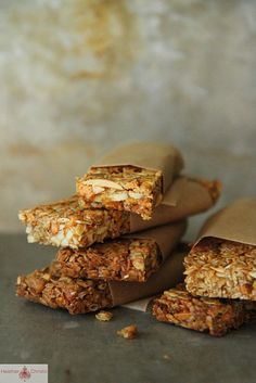 Pumpkin Butterscotch Granola Bars by Heather Christo