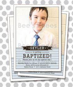 LDS Baptism Invitation Boy Invites - Digital File from Etsy  Find more LDS greats at: MormonFavorites.com
