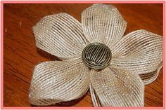 Made with burlap-ish ribbon.