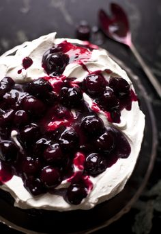 This is a very tossed-together Black Forest Cake, or, as I like to say, when I am too lazy to bring out the piping bag and tips, it's RUSTIC. All of the components of the classic German torte witho...