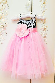 Liv Pink Zebra Party Dress