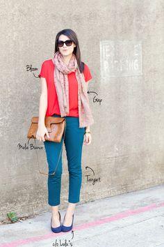 #scarf #shades #handbag #colored #jeans #casual #cool #fashion