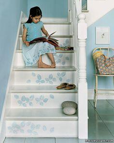 Upstairs - blue