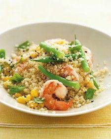 shrimp with whole wheat couscous
