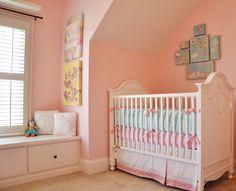 Pretty pink and aqua girl's room!