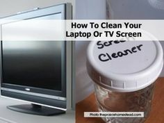 How To Clean Your Laptop Or TV Screen comput screen, laptop, how to clean tv screen, tvs