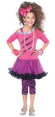 Rock Star Girl Costume Retro 80's Rocker $26.00 #RockStar #80s #GirlsCostumes http://www.costumeshopper.com/prods/lac48138-rock-star.html