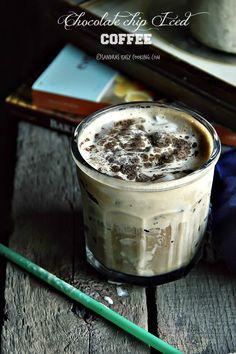 Chocolate Chip Iced Coffee chocolate chip iced coffee, chocolate chips, chocol chip