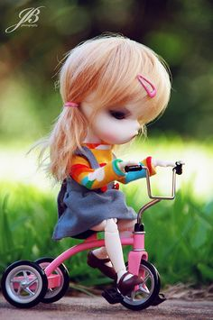 concentration. #doll #tricycle #play #resin #bjd #toy