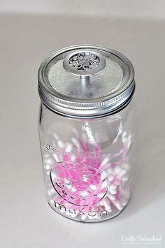 jar storag, daili creativ, old dressers, storage containers, mason jar crafts