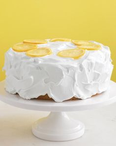 Lemon Cake Recipe -- This cheery yellow cake is perfect for festive occasions.