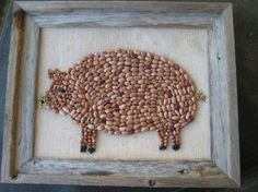 Country Pig made with cranberry beans
