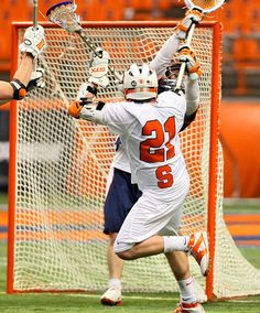 Syracuse University men's lacrosse team battles Virginia