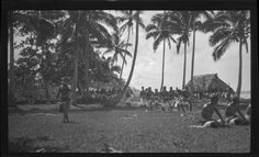 Group of men wearing traditional samoan skirt. Creator/Contributor: Lambert, Sylvester Maxwell, 1882-1947, Photographer Date:between 1919 and 1939 Contributing Institution: UC San Diego, Mandeville Special Collections Library