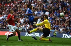 Didier scored the winner against Man Utd in the 2007 FA Cup final - the first at the new Wembley