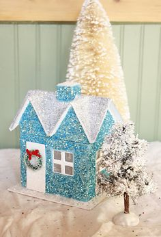 glitter houses and tutorial