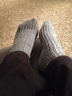 Loom knit socks