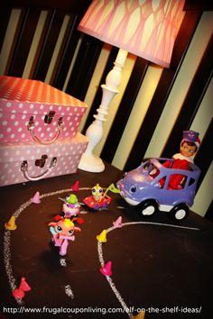 Dozens of EASY Elf on the Shelf Ideas on Frugal Coupon Living - Elf Takes a Road Trip #elfontheshelf #theelfontheshelf #elf #christmas