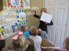 Back to school : Read-aloud rules for classroom centers . See you can use books as a springboard for classroom discussions on using each of your centers! Then check out the rest of the Back to School links in the linky below the post!