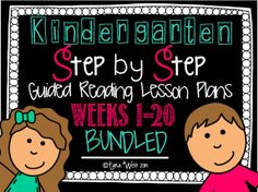 20 Weeks of Step by Step Guided Reading Instructions!  Everything needed included: letter word work/sight word work, phonemic awareness, easy readers {differentiated}, writing prompts, & more!  Great for first year teachers and those getting into guided reading! :)