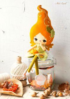 PDF. Autumn fairy doll. Plush Doll Pattern Softie by Noialand
