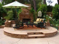 landscaping ideas, dream backyard, front yard landscaping, front yards, patio, garden idea, outdoor fireplaces, lake homes, stone fireplaces