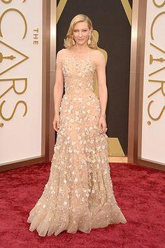 Cate Blanchett, in Armani Privé, with Chopard jewels.
