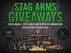 Sign up in 30 seconds to be entered to win a Model 1 Rifle and $1000 worth of ammo! Don't forget to share for more entries! You can sign up once per day!