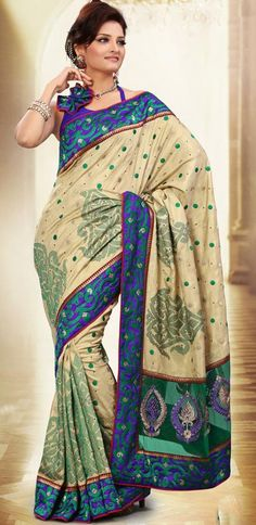 $73.98 Brown Manipuri Silk Work Saree 26075