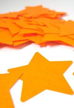 Bright orange star die cuts