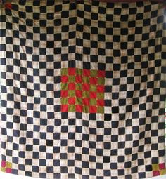 FABULOUSLY DRAMATIC Antique CHECKERBOARD by AntiqueQuiltRevival, Etsy